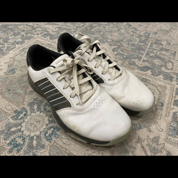 Men's Adidas Golf Shoes Size 11.5 Black and White